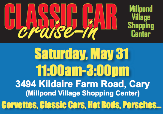 Classic Car Cruise-in - May 31st