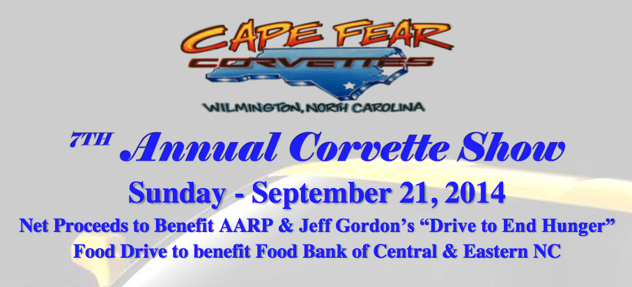 Cape Fear Corvettes - 7th Annual Corvette Show - Sept. 21, 2014